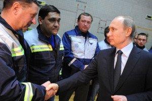 Vladimir Putin at opening of first stage of power bridge from Russia to Crimea, Dec. 2, 2015 (Michael Klimentyev, TASS)