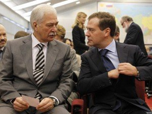 Boris Gryzlov and Russian Prime Minister Dmitry Medvedev