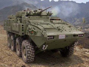 Light armoured vehicle manufactured in Canada by General Dynamics to be sold to Saudi Arabia