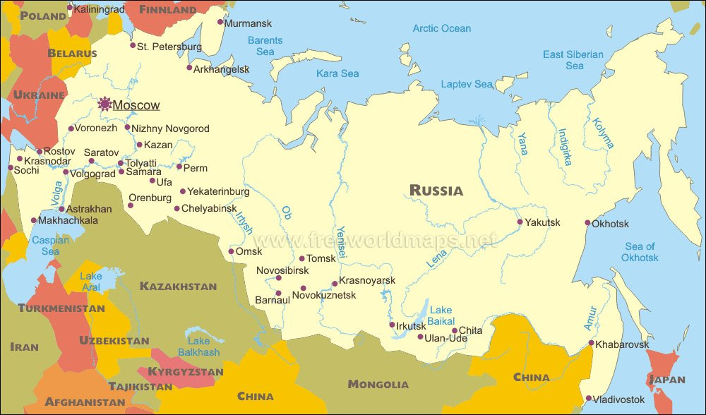 Russias Updated National Security Strategy For New Cold - Russian federation map
