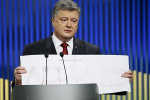 Petro Poroshenko speaks at 'year ahead' press conference on Jan 14, 2016 (Gleb Garanich, Reuters)