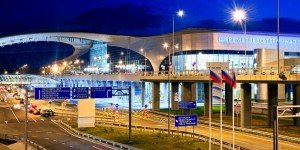 Sheremetyevo International Airport on outskirts of Moscow