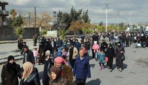 '500 families return to Al-Qadam as part of reconciliation plan in southern Damascus', image on Twitter, Jan 20, 2016