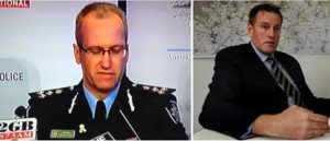 Assistant Commissioner of the Australian Federal Police (L) and Detective Superintendent Andrew Donoghoe