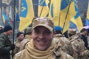 'Commander' Andriy Paruiby on Maidan Square, Feb 2014