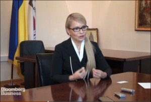 Former Ukrainian prime minister Yulia Tymoshenko, leader of the 'Fatherland' Party