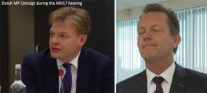 Left, Dutch MP Pieter Omtzigt has been pressing Dutch prosecutor Fred Westerbeke for evidence of the MH17 shoot-down
