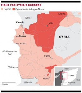 Situation map of Syria, in The Independent, Feb 18, 2016
