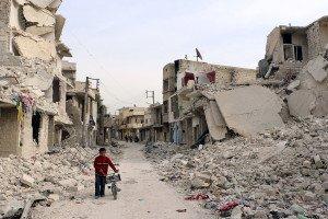Sukari district of Aleppo on Nov 13, 2014 (AFP)