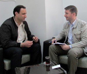 Akram Hesso (L), interviewed in May 2015