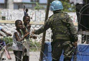 Image of UN peacekeeper in Haiti (daviddicke.com)