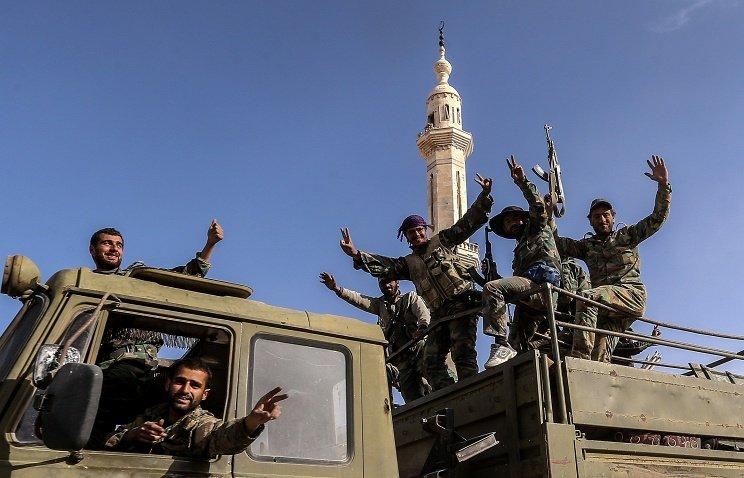 Moscow says Syrian army has...