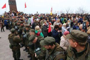 Commemoration in Odessa on April 10, 2016 of 1944 liberation of city from Nazi Germany