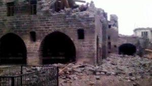 Damage to Armenian Catholic Church in Diyarbakir, eastern Turkey in early 2016 (Armenian Weekly)