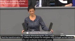 German MP Sahra Wagenknecht slams Merkel hypocrisy over war in Syria