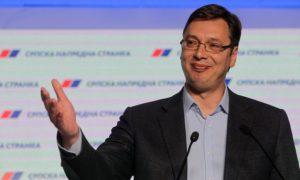 Serbian Prime Minister Aleksandar Vučić, re-elected on April 24, 2016 (Andrej Cukic, EPA)
