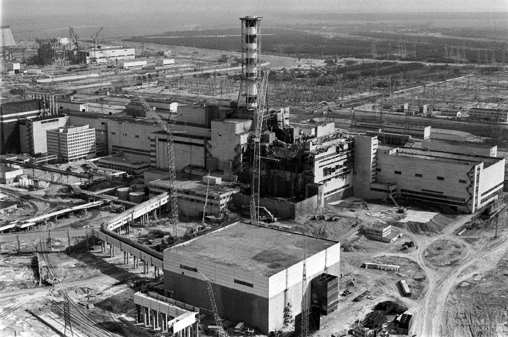 Ukraine prepares to mark 30 years since chernobyl nuclear disaster the destroyed fourth power block of chernobyls nuclear power plant shown a few days after the freerunsca Images