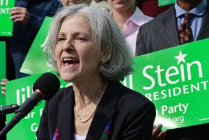 Jill Stein speaks during 2012 U.S. presidential race