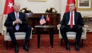 U.S. warrior vice-president Biden meets with Turkish President Recep Tayyip Erdogan in Washington on March 31, 2016 (Joshua Roberts, Reuters)