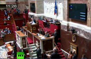 Vote in French National Assembly on April 28, 2016 favoring end to EU sanctions against Russia