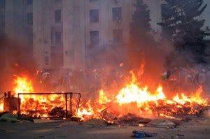 Arson attack on trade union building in Odessa, May 2, 2014