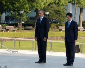 Barak Obama in Hiroshima, Japan on May 27, 2016. No apology, but lots of crocodile tears (EPA)