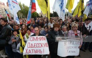 Commemoration in Odessa on May 2, 2016 of arson massacre two years earlier (Mikhail Sokolov, Getty Images)