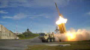 Testing in 2013 of U.S. Terminal High Altitude Area Defense missile (Wikipedia image)