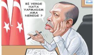 Cartoon of Turkey President Ergogan