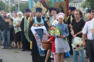 Cross-Ukraine Procession for Peace by Orthodox Church arrives in Kyiv on July 26, 2016 (Rusvesna)