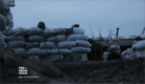 Front line of Ukraine's civil war in Donetsk (PBS New Hour report, July 2016)