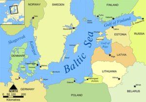 Map of Baltic Sea region
