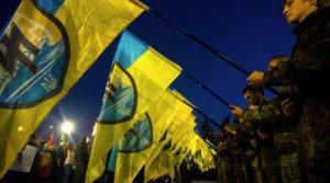 March in Lviv, western Ukraine in 2015 to mark the 72nd anniversary of Ukrainian Insurgent Army (Igor Chekachkov, Sputnik)