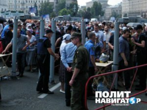 On July 27, tens of thousands of Kyiv residents join the many thousands who made the pilgrimage for peace to the city from across Ukraine om July 2016