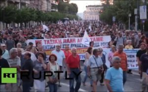 On eve of NATO war summit in Warsaw, thousands protest against the imperialist alliance in Athens on July 7, 2016
