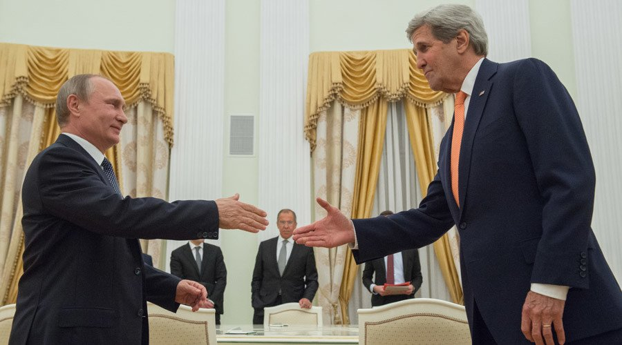 Kerry, Putin meeting in Moscow to discuss Syria