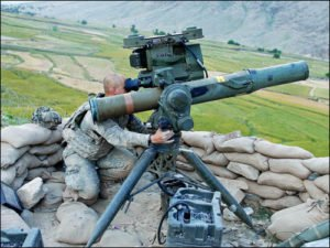 TOW missile system and U.S. soldier in Afghanistan in 2009 (U.S. Army photo)