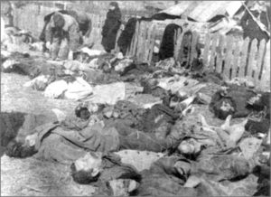 Victims of massacre committed by UKrainian Partisan Army in the village of Lipniki, Poland 1943 (Wikipedia)