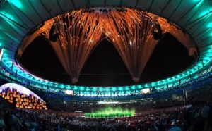 Image of opening ceremony at Summer Olympics in Rio Di Janeiro on Aug 6, 2016