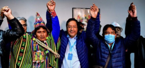 'Democracy has won': Year after right-wing coup against Evo Morales, socialist Luis Arce declares victory in Bolivia election